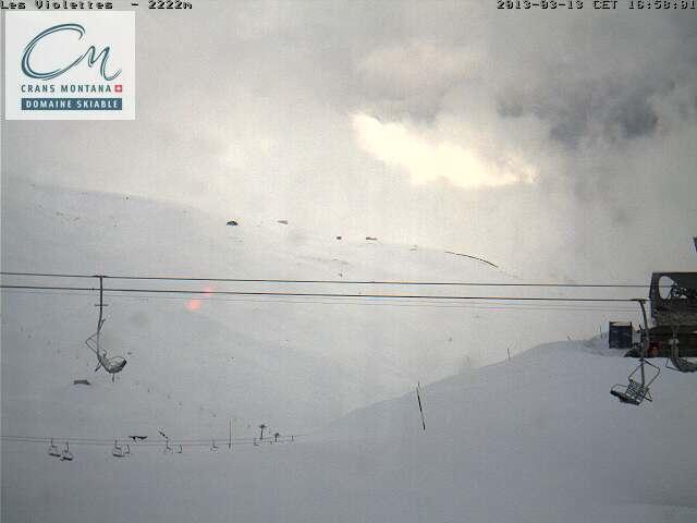 Webcam >> Ski area map >> Crans-Montana >> Snow report more local details